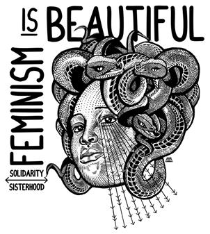 Feminism is beautiful - Samarreta oversized | Alhama Molina